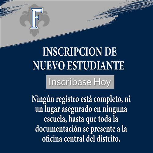 New student registration in spanish