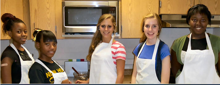 image of students in kitchen