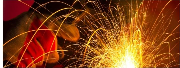 Welding with sparking ambers