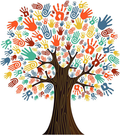 Helping hands tree image